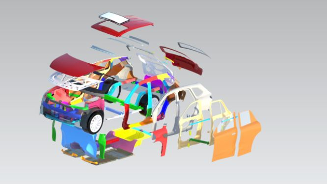 Automotive BIW Design and Development Part 1 using NXCAD