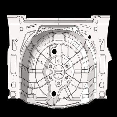 Structural Meshing of the Car Spare Wheel Holder using Hypermesh