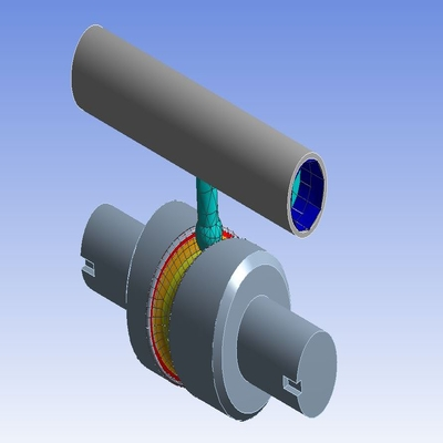 Simulation of Long Piston with Cam using ANSYS Workbench