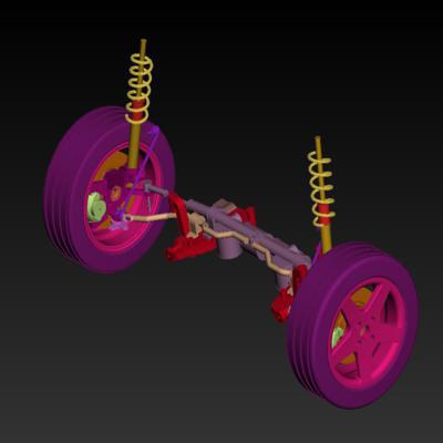 Modelling of an Automotive suspension assembly by using ANSA