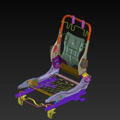 Modelling of an Automotive seat structure with connections by using ANSA