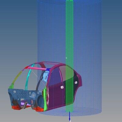 Side Crash Analysis of a Neon Car Model using Hypermesh and RADIOSS