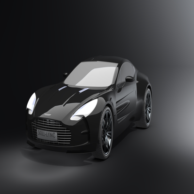 Surface modelling of an Aston martin One-77 using Solidworks