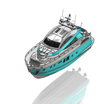 Surface modelling of Sunseeker Predator Yacht Using Solidworks